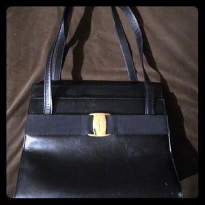 Salvatore Ferragamo Authentic Vara Black Leather